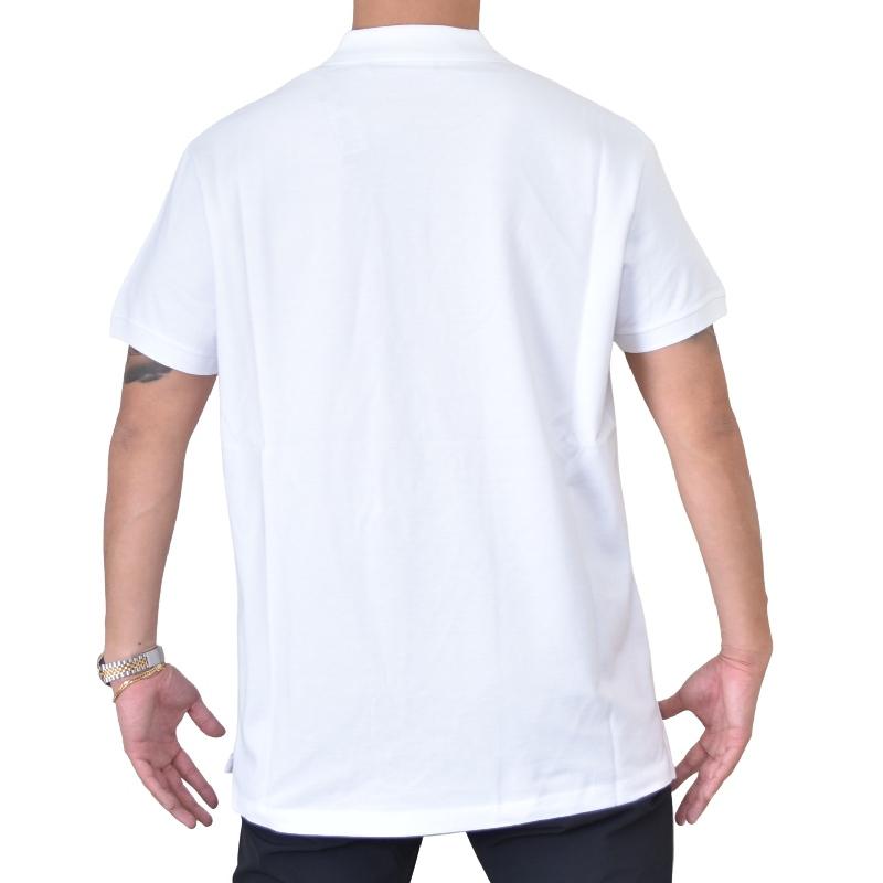 大きいサイズ メンズ ディーゼル Diesel 半袖ポロシャツ ワンポイント 白 黒 T-WEET-SPLIT XXL XXXL