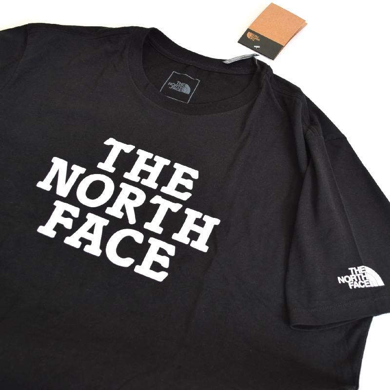 大きいサイズ メンズ ノースフェイス 半袖 Tシャツ ロゴプリント USAモデル 黒 ブラック XL XXL THE NORTH FACE 【メール便対応】 [M便 1/1]