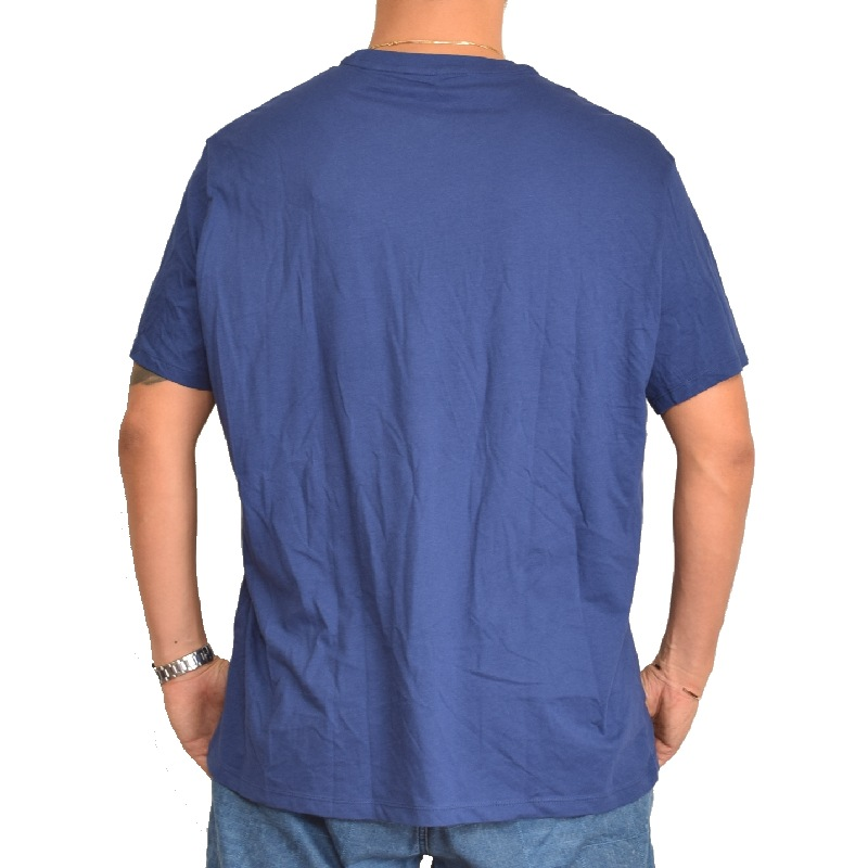 【SALE】 大きいサイズ メンズ アルマーニエクスチェンジ A/X ARMANI EXCHANGE ロゴプリント Vネック 半袖Tシャツ REGULAR FIT 黒 青 XL XXL 【メール便対応】 [M便 1/1]