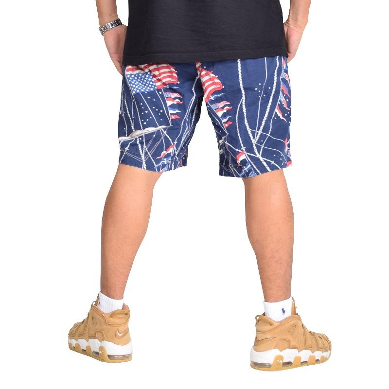 大きいサイズ メンズ ポロラルフローレン POLO RALPH LAUREN 総柄ショーツ ハーフパンツ ショートパンツ 国旗柄 38 40 42インチ