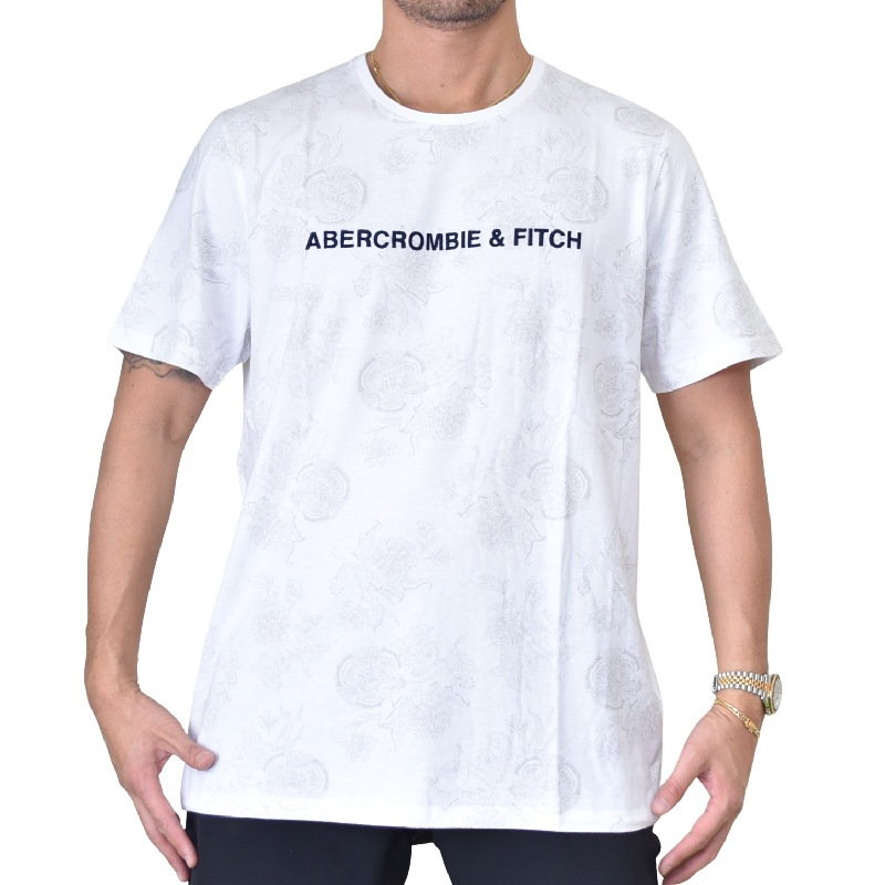 大きいサイズ メンズ アバクロ Abercrombie&Fitch 立体ロゴ刺繍  クルーネック 半袖Tシャツ XXL 【メール便対応】 [M便 1/1]