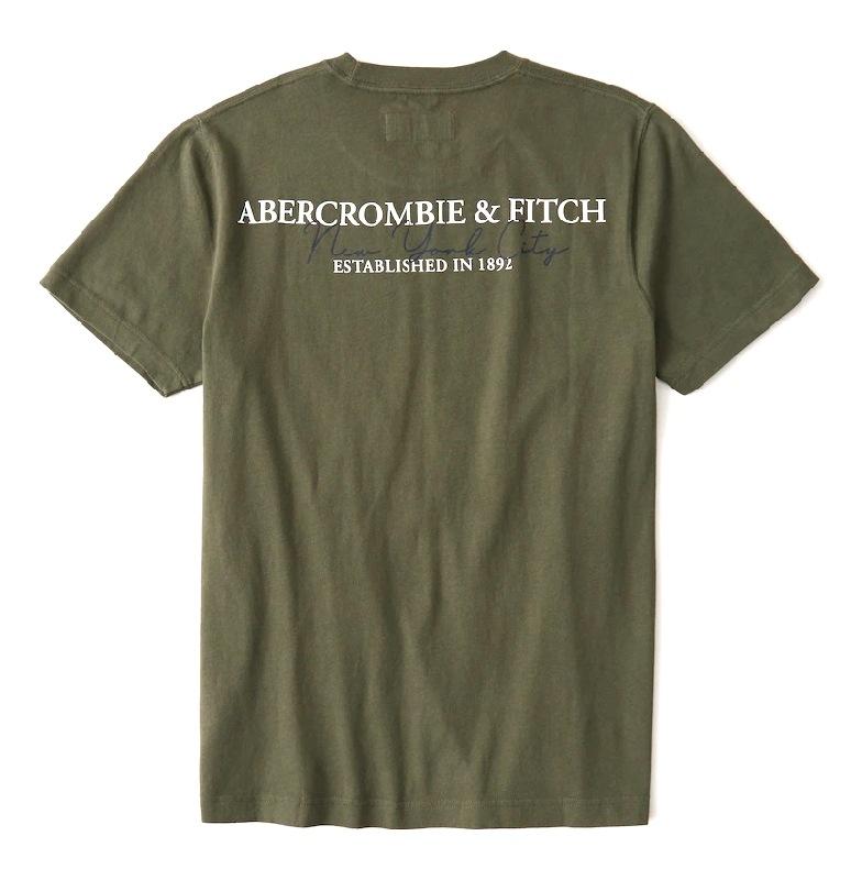 大きいサイズ メンズ アバクロ Abercrombie&Fitch グラフィックロゴ クルーネック 半袖Tシャツ XXL XXL 【メール便対応】 [M便 1/1]