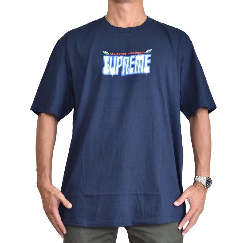 大きいサイズ メンズ Supreme シュプリーム ロゴプリンT 半袖Tシャツ 2020FW Ultra Fresh Tee 半袖Tシャツ XL