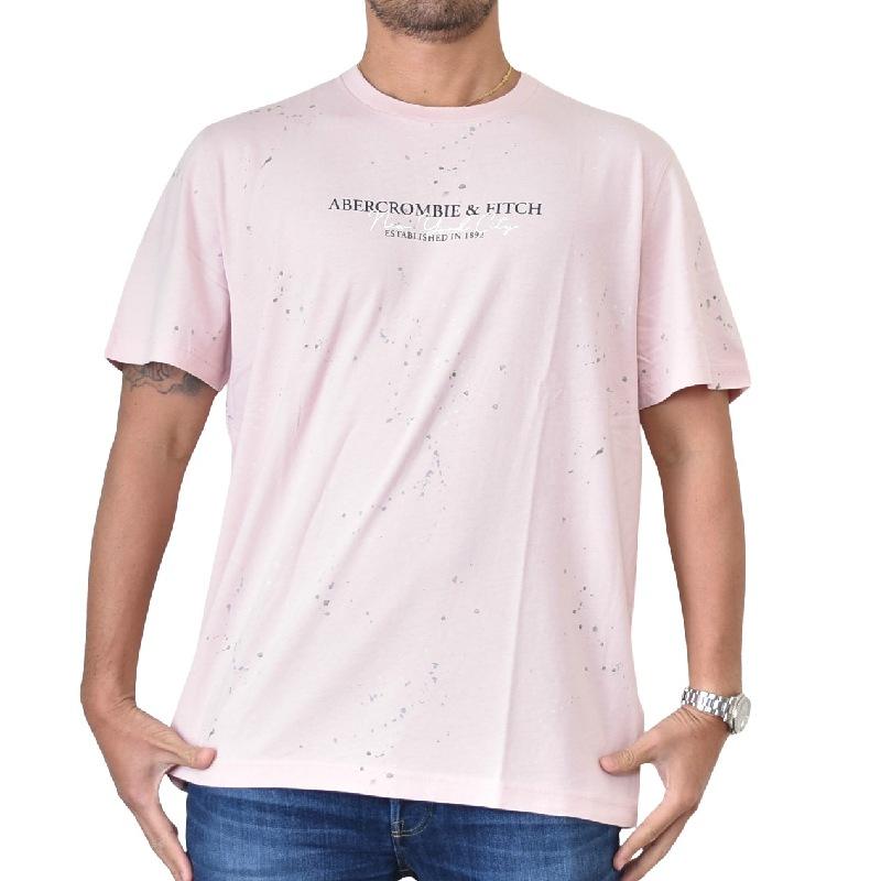 大きいサイズ メンズ アバクロ Abercrombie&Fitch グラフィックロゴ クルーネック 半袖Tシャツ XXL 【メール便対応】 [M便 1/1]