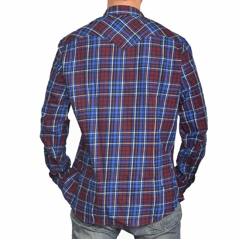 【SALE】 大きいサイズ メンズ ディーゼル Diesel 長袖シャツ SULFEDEN SHIRT  チェック ウエスタン XXL [DSL-051-T]