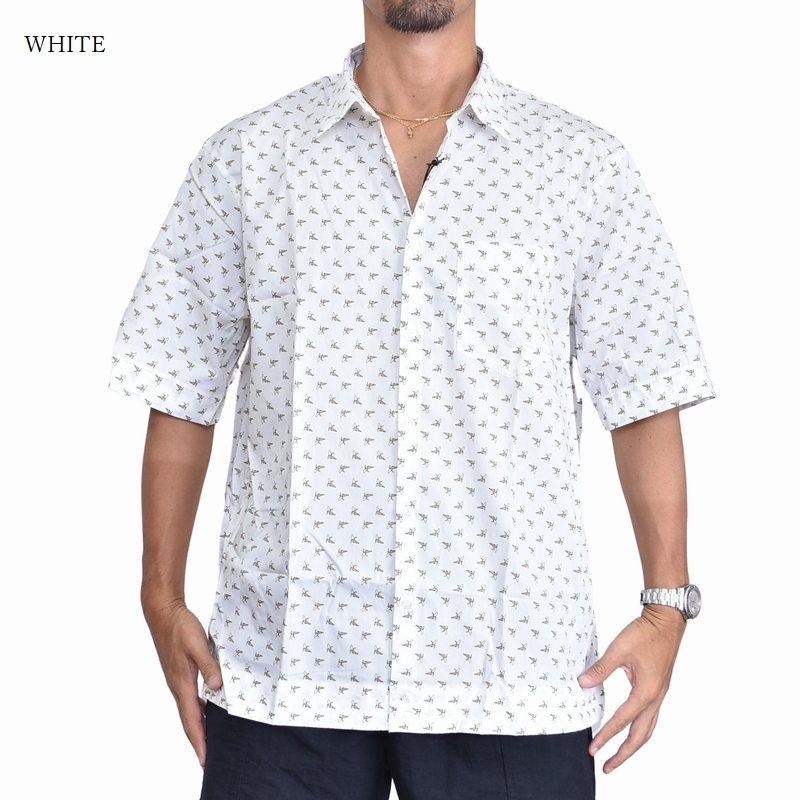 大きいサイズ メンズ ディーゼル Diesel 半袖シャツ フルーツ バナナ柄 ホワイト 白 黒 S-ATWOOD-B XXL