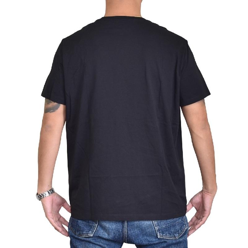 大きいサイズ メンズ アルマーニエクスチェンジ A/X ARMANI EXCHANGE ロゴプリント クルーネック 半袖Tシャツ SLIM FIT 黒 ブラック XL XXL 【メール便対応】 [M便 1/1]