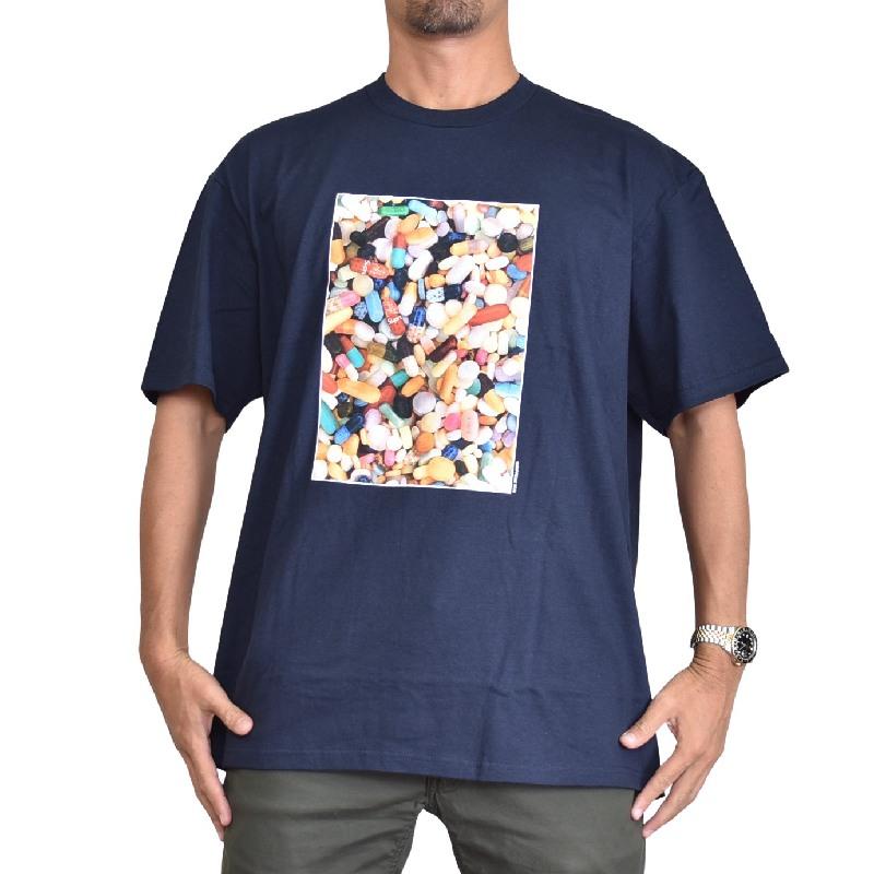 大きいサイズ メンズ Supreme シュプリーム ロゴプリンT 半袖Tシャツ 2020FW Pills Tee 半袖Tシャツ XL