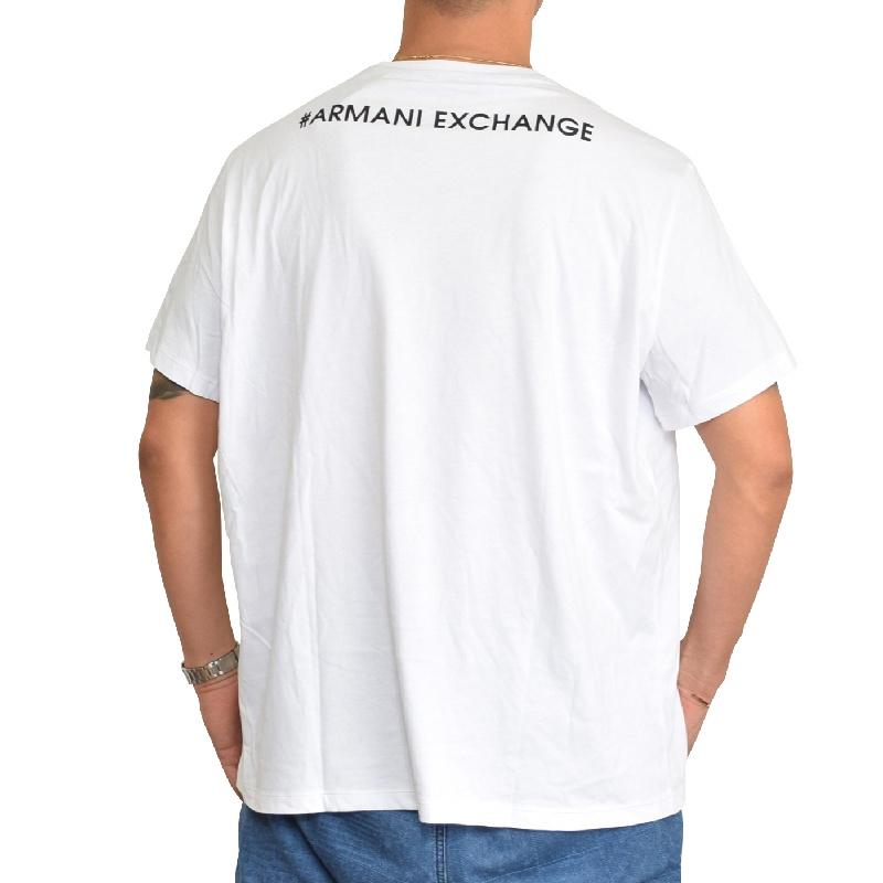 【SALE】 大きいサイズ メンズ アルマーニエクスチェンジ A/X ARMANI EXCHANGE ロゴプリント クルーネック 半袖Tシャツ REGULAR FIT 白 XL XXL 【メール便対応】 [M便 1/1]