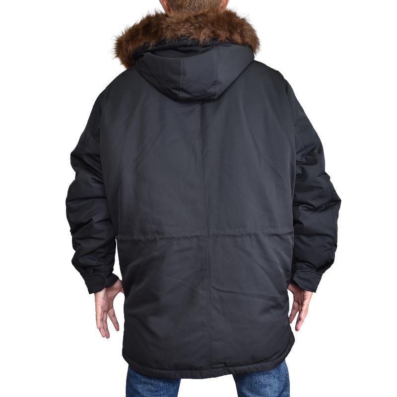 大きいサイズ メンズ アルマーニエクスチェンジ A/X フードファー中綿ジャケット アウター ブルゾン ダウン 黒 ブラック XL XXL