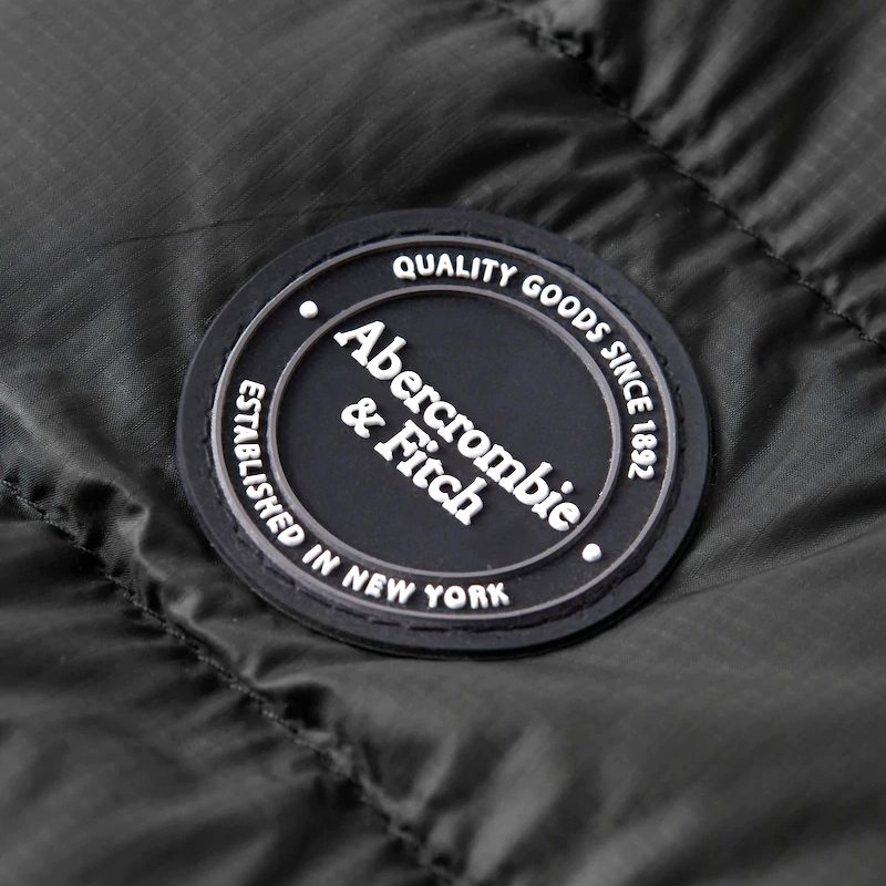 大きいサイズ メンズ アバクロ Abercrombie&Fitch ストレッチ モックネック ダウンジャケット XXL