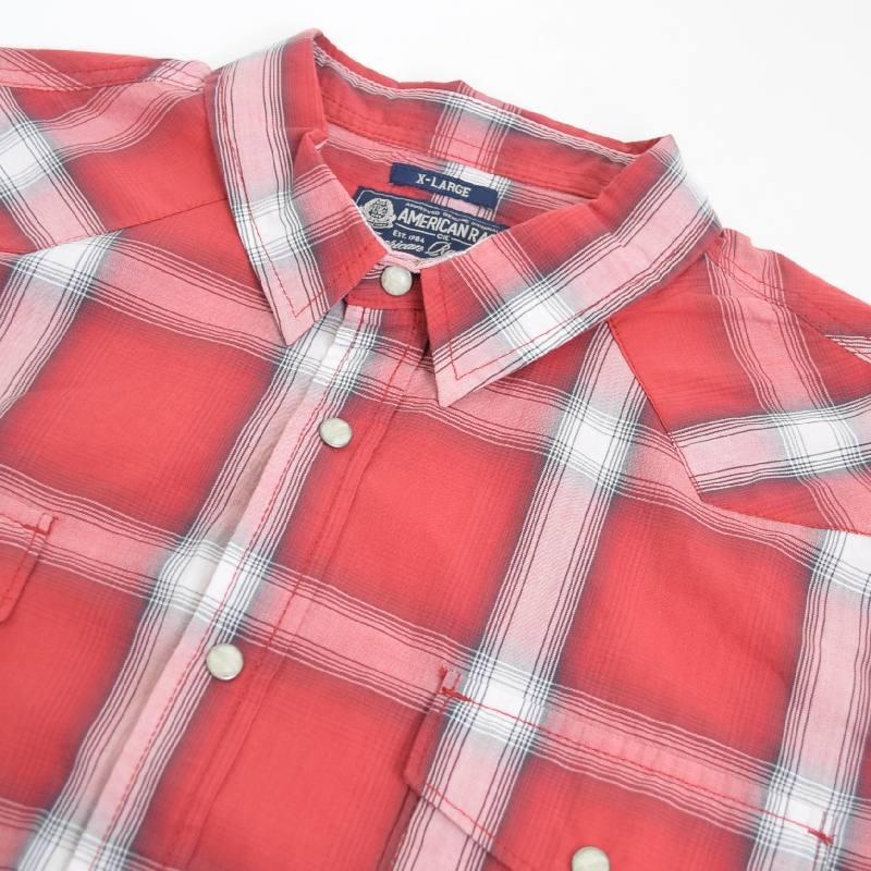 【SALE】 大きいサイズ メンズ AMERICAN RAG CIE アメリカンラグシー 半袖 チェックシャツ ウエスタン XL XXL