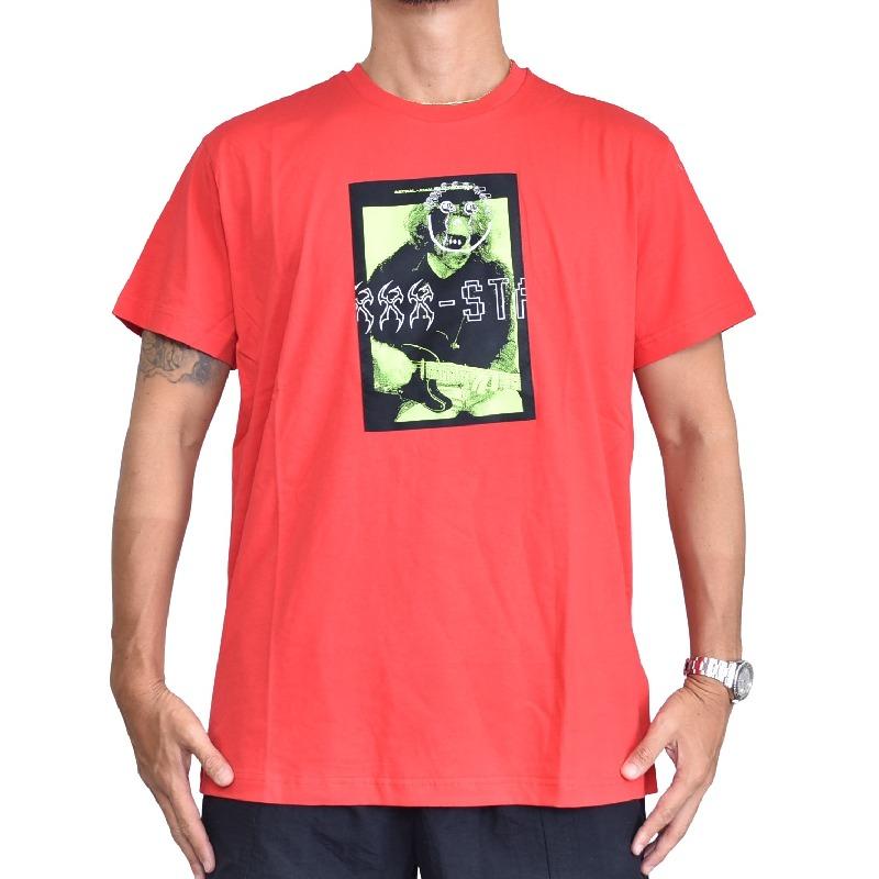 大きいサイズ メンズ Diesel ディーゼル 半袖 クルーネック Tシャツ ポケット 赤 レッド XXL XXXL 【メール便対応】 [M便 1/1]