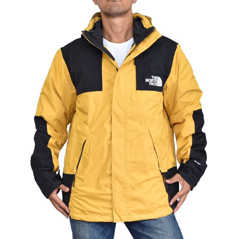 大きいサイズ メンズ ノースフェイス THE NORTH FACE 3WAY マウンテンパーカー ダウンジャケット ウインドブレイカー  BANDON TRI JKT-RTO イエロー 黄色 XL XXL