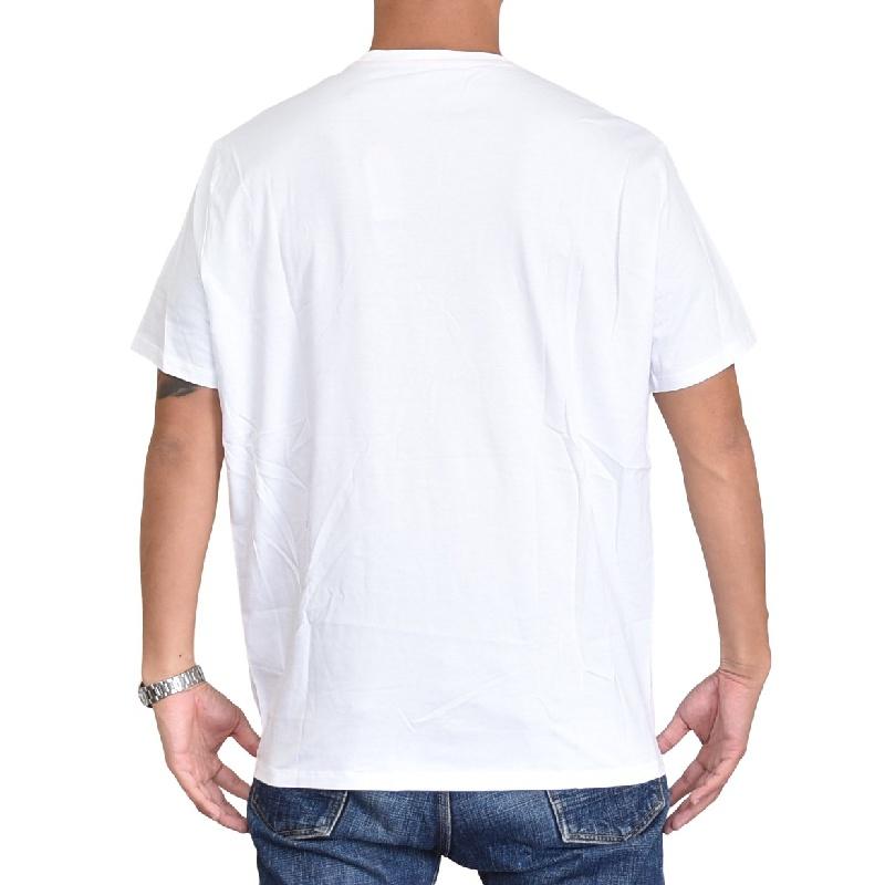 大きいサイズ メンズ アルマーニエクスチェンジ A/X ARMANI EXCHANGE ロゴプリント クルーネック 半袖Tシャツ REGULAR FIT 白 ホワイト XL XXL 【メール便対応】 [M便 1/1]