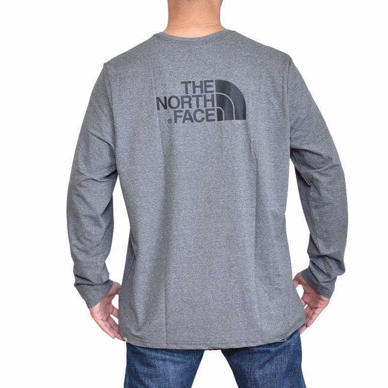 大きいサイズ メンズ ノースフェイス ロンT 長袖 Tシャツ ハーフドーム バックプリント ヨーロッパライン 海外限定 THE NORTH FACE XL XXL 【メール便対応】 [M便 1/1]