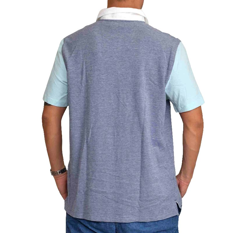 【SALE】  大きいサイズ メンズ NAUTICA ノーティカ ノーチカ ポロシャツ パネル切り替え 鹿の子 ワンポイント 半袖 白 ホワイト XL XXL