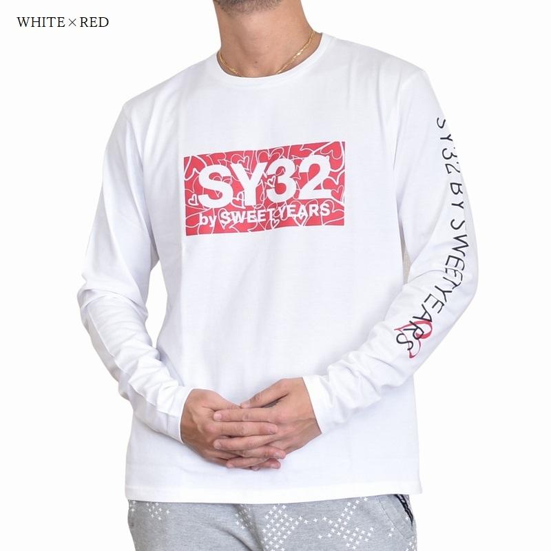 【別注】 大きいサイズ メンズ SY32 by SWEET YEARS スウィートイヤーズ HEAT LOGO L/S TEE ロンT 長袖Tシャツ ヒートロゴ XXL XXXL XXXXL 【メール便対応】 [M便 1/1]