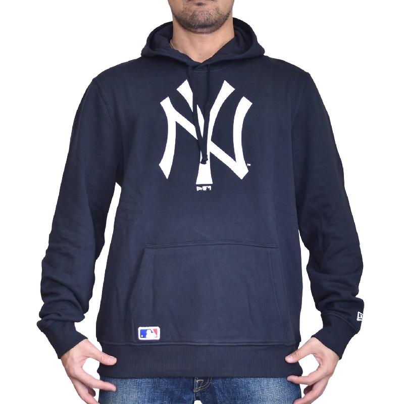 大きいサイズ メンズ NEW ERA ニューエラ パーカー スウェット プルオーバー MLB NY ニューヨークヤンキース ネイビー XL XXL XXXL XXXXL