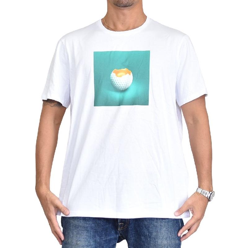 大きいサイズ メンズ アルマーニエクスチェンジ A/X ARMANI EXCHANGE ロゴプリント クルーネック 半袖Tシャツ SLIM FIT 白 ホワイト XL XXL 【メール便対応】 [M便 1/1]