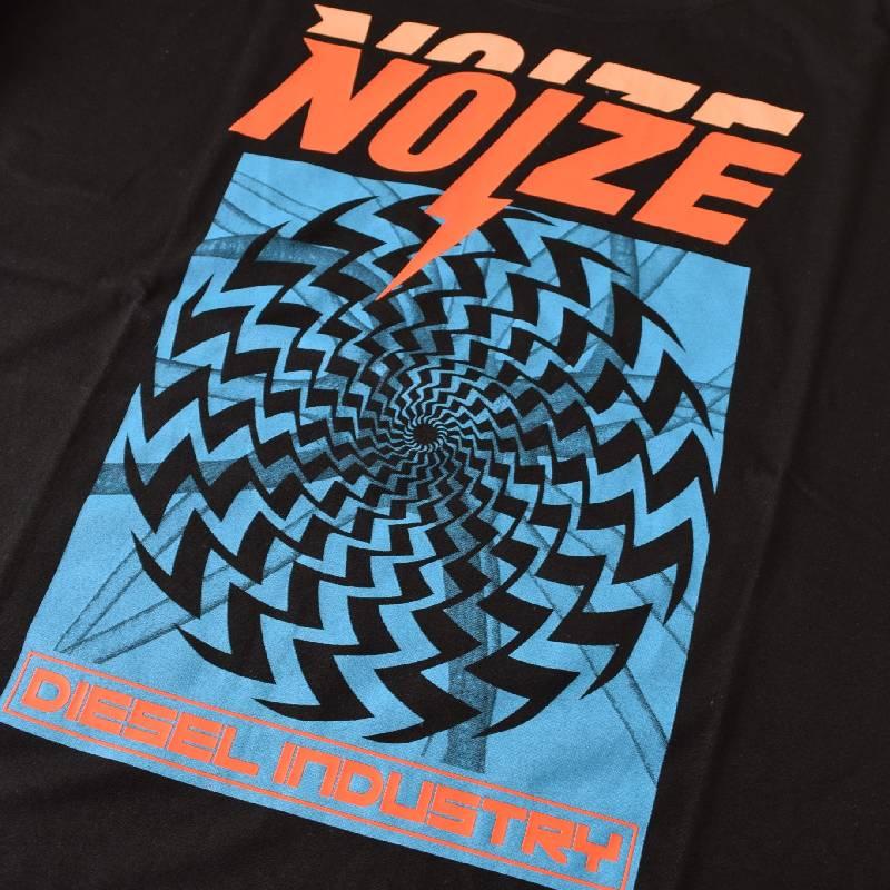 大きいサイズ メンズ DIESEL ディーゼル 半袖 クルーネック Tシャツ 黒 ブラック T-WALLACE-WB XXXL 【メール便対応】 [M便 1/1]