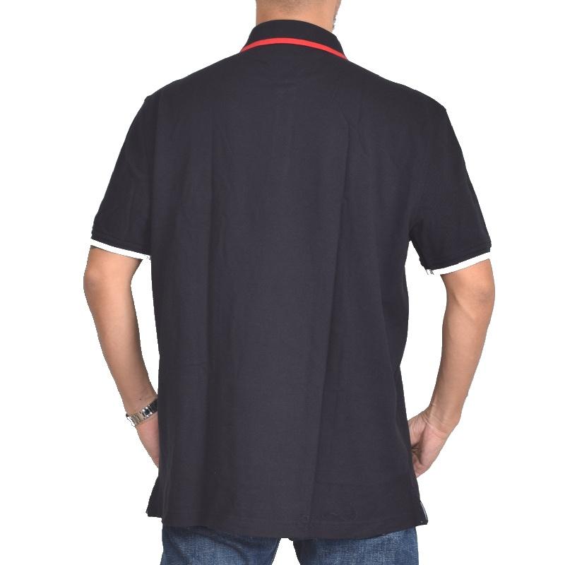 大きいサイズメンズ トミーヒルフィガー TOMMY HILFIGER 鹿の子 半袖 ポロシャツ 黒 白 ネイビー XL XXL XXXL