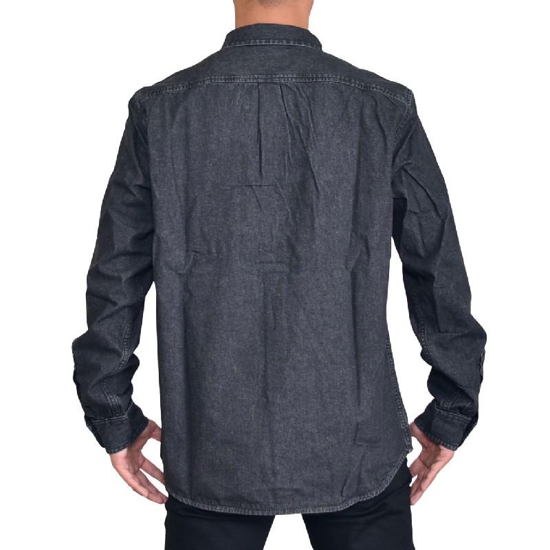 大きいサイズ メンズ DIESEL ディーゼル 長袖シャツ D-BILLY ブラックデニム XXL XXXL