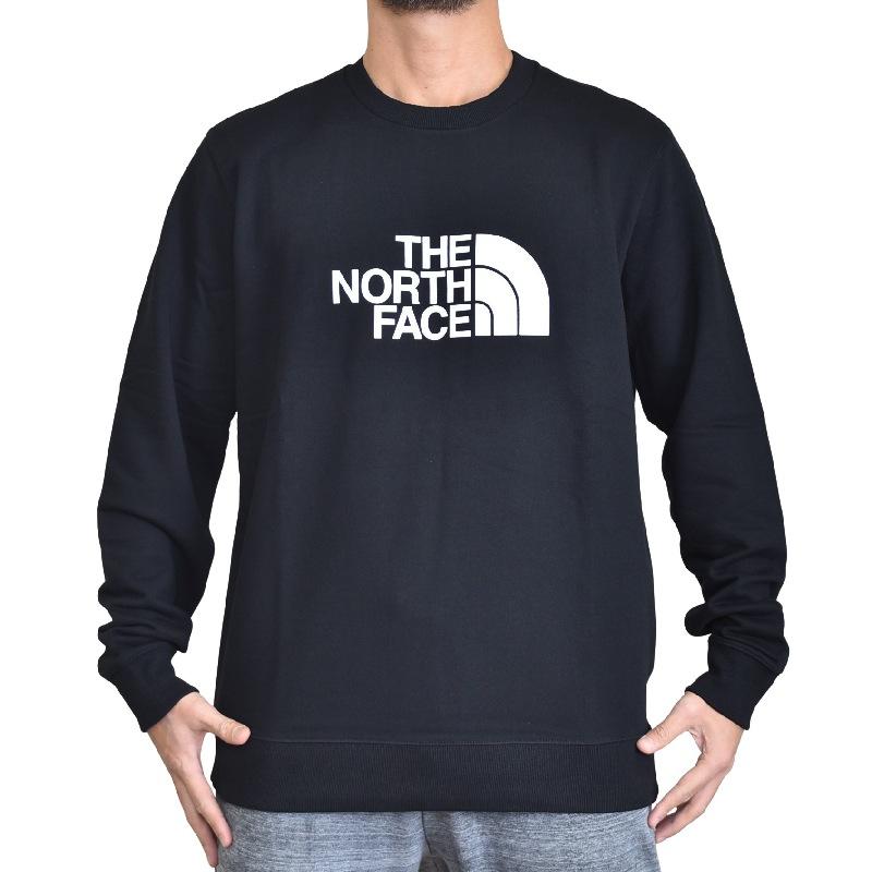 大きいサイズ メンズ ノースフェイス THE NORTH FACE スウェットシャツ クルー トレーナー 裏起毛 海外モデル 黒 XL XXL