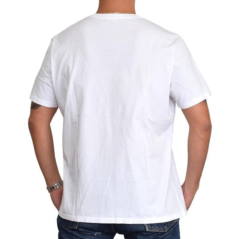 【SALE】 大きいサイズ メンズ ディーゼル Diesel クルーネック Tシャツ T-DIEGO-GD ホワイト 白 グレー XXL XXXL 【メール便対応】 [M便 1/1]