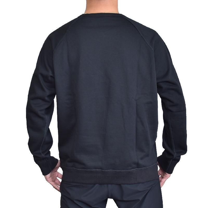 大きいサイズ メンズ Diesel ディーゼル クルーネック スウェットシャツ トレーナー 黒 グレー ORESTES-NEW SWEAT-SHIRTS XXL