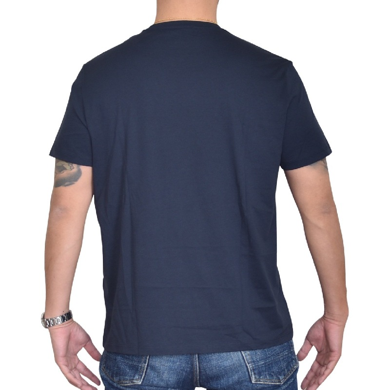 大きいサイズ メンズ アルマーニエクスチェンジ A/X ARMANI EXCHANGE ロゴプリント クルーネック 半袖Tシャツ SLIM FIT ネイビー XL XXL 【メール便対応】 [M便 1/1]