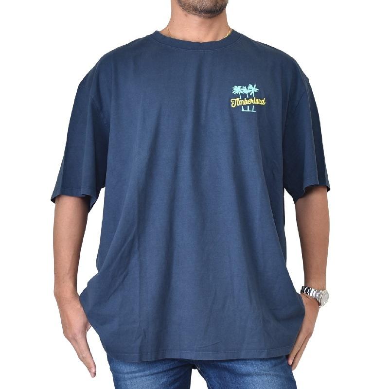 大きいサイズ メンズ ティンバーランド 半袖 バックプリント ロゴ刺繍 Tシャツ Timberland USAモデル XL XXL XXXL 【メール便対応】 [M便 1/1]