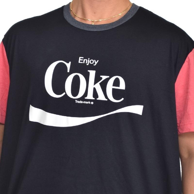 【SALE】 大きいサイズ メンズ Coca Cola コカ・コーラ ロゴ 半袖 プリント Tシャツ アメカジ USAモデル 黒 ブラック XL XXL 【メール便対応】 [M便 1/1]