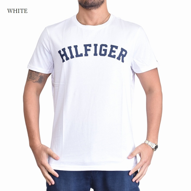 【SALE】 大きいサイズメンズ トミーヒルフィガージーンズ TOMMY HILFIGER クルーネック 半袖Tシャツ ネイビー ホワイト 白 XL 【メール便対応】 [M便 1/1]