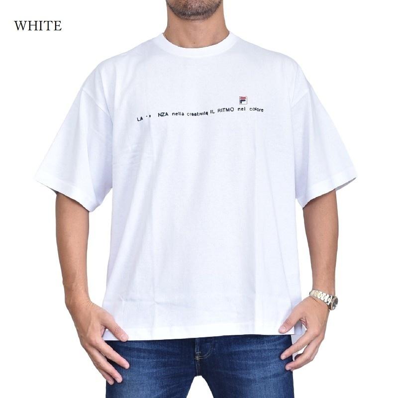 【SALE】 大きいサイズ メンズ FILA HERITAGE フィラ ヘリテージライン Tシャツ 半袖  クルーネック 白 カーキ ホワイト XL XXL 【メール便対応】 [M便 1/1]