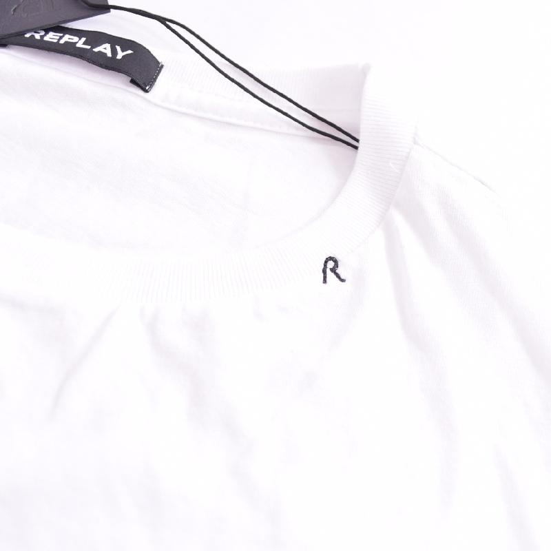 大きいサイズ メンズ REPLAY リプレイ 半袖Tシャツ グラフィックロゴ 黒 ブラック 白 ホワイト XXL XXXL 【メール便対応】 [M便 1/1]