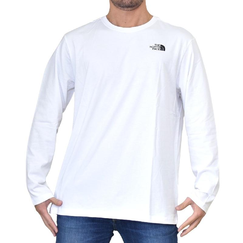 大きいサイズ メンズ ノースフェイス ロンT 長袖 Tシャツ ボックスロゴ バックプリント RED BOX TEE EUモデル THE NORTH FACE XL XXL [M便 1/1]