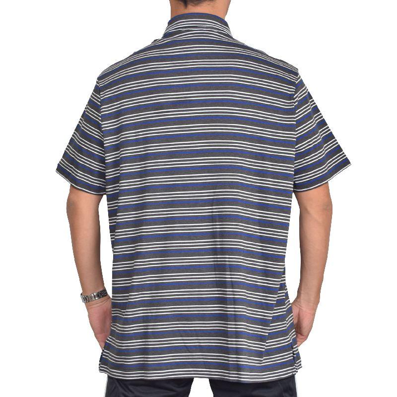大きいサイズ メンズ ポロラルフローレン POLO RALPH LAUREN ボーダー柄 ワンポイント 半袖ポロシャツ コットン XL XXL
