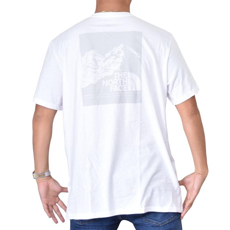大きいサイズ メンズ ノースフェイス 半袖 グラフィック バックプリント Tシャツ USAモデル 白 ホワイト XL XXL THE NORTH FACE 【メール便対応】 [M便 1/1]
