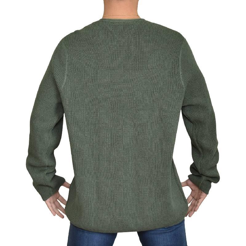 大きいサイズメンズ トミーヒルフィガージーンズ ワッフルカットソー 長袖Tシャツ ロンT トップス ネイビー グレー オリーブ 黒  TOMMY HILFIGER JEANS XL XXL XXXL