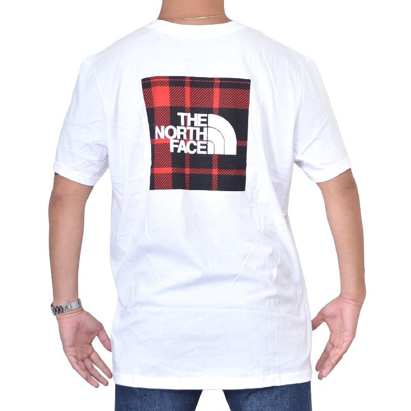 大きいサイズ メンズ ノースフェイス 半袖 Tシャツ HOLIDAY REDBOX TEE レッドボックスロゴ バックプリント ブラック ホワイト USAモデル THE NORTH FACE XL XXL 【メール便対応】 [M便 1/1]