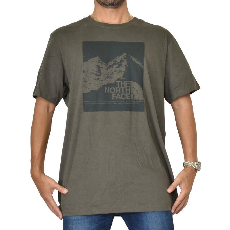 大きいサイズ メンズ ノースフェイス 半袖 グラフィック プリント Tシャツ USAモデル グリーン XL XXL THE NORTH FACE 【メール便対応】 [M便 1/1]