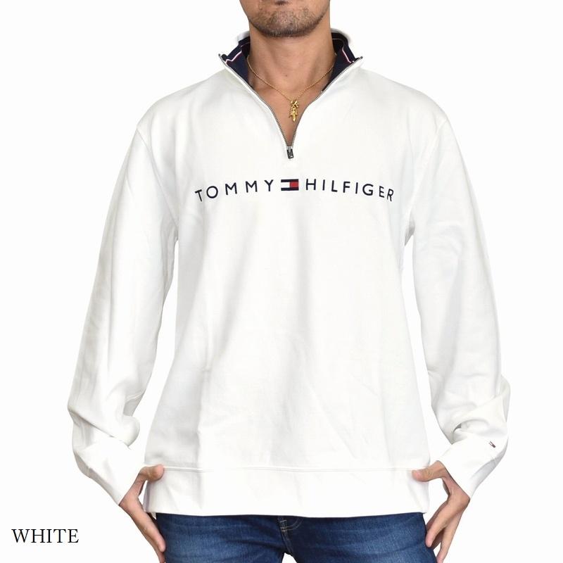 大きいサイズメンズ TOMMY HILFIGER トミーヒルフィガー ハーフジップ カットソー ロゴ刺繍 XL XXL
