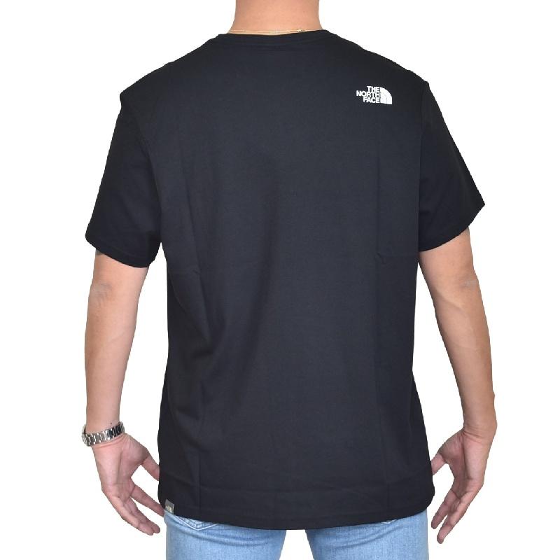 大きいサイズ メンズ ノースフェイス 半袖 ロゴプリント Tシャツ Biner Graphic EUライン 海外モデル 黒 白 XL XXL 【メール便対応】 [M便 1/1]