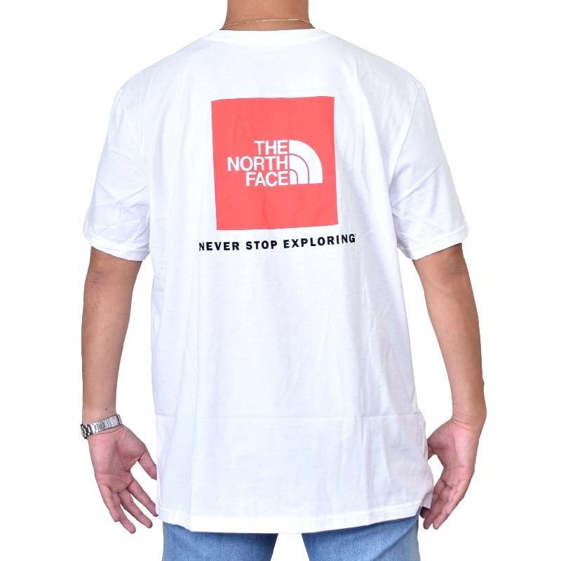 大きいサイズ メンズ ノースフェイス 半袖 Tシャツ BOX NSE TEE ボックスロゴ バックプリント USAモデル THE NORTH FACE XL XXL 【メール便対応】 [M便 1/1]