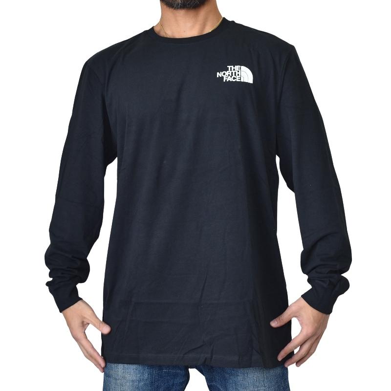 大きいサイズ メンズ ノースフェイス ロンT 長袖 Tシャツ ボックスロゴ バックプリント XL XXL XXXL USAモデル Long Sleeve Box NSE Tee THE NORTH FACE [M便 1/1]