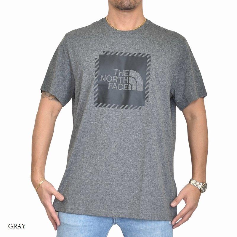 大きいサイズ メンズ ノースフェイス 半袖 ロゴプリント Tシャツ Biner Graphic 2 EUライン 海外モデル 黒 白 グレー ブルー グリーン XL XXL 【メール便対応】 [M便 1/1]
