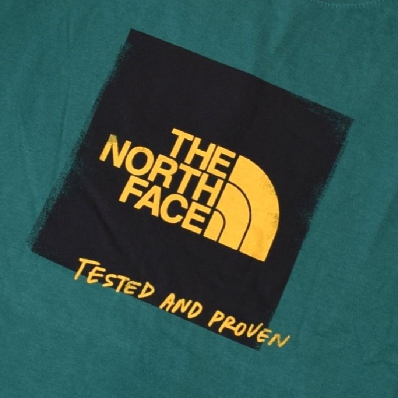 大きいサイズ メンズ ノースフェイス 半袖 Tシャツ TESTED PROVENT TEE ボックスロゴ グリーン 緑 USAモデル THE NORTH FACE XL XXL 【メール便対応】 [M便 1/1]