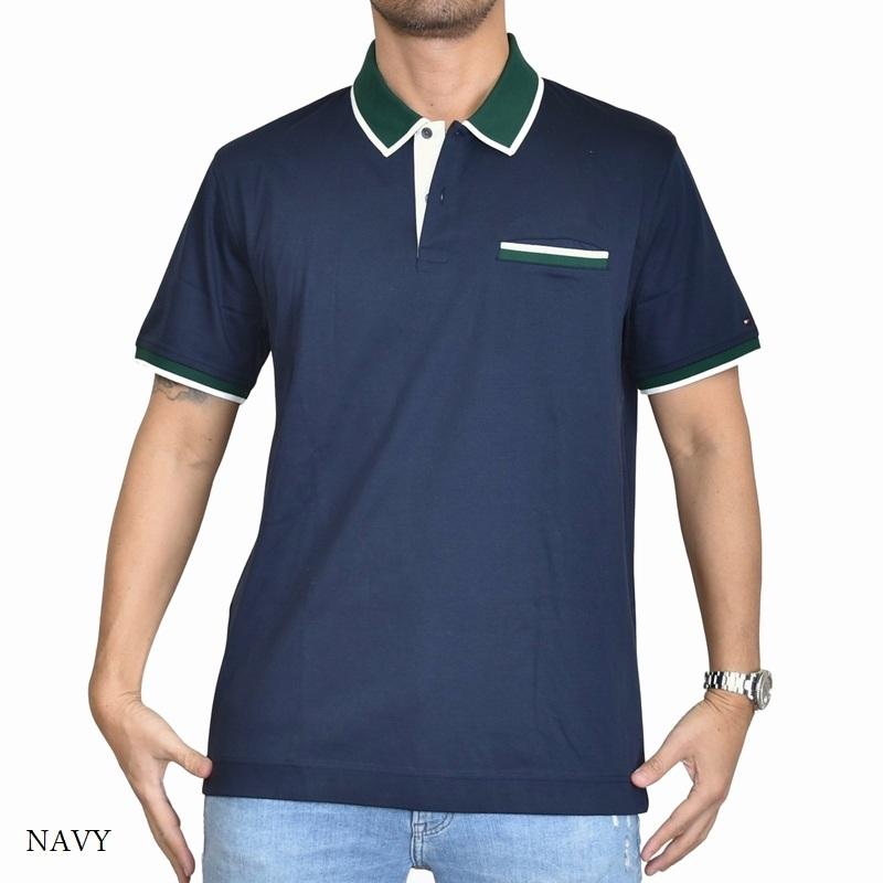 大きいサイズメンズ トミーヒルフィガー TOMMY HILFIGER 半袖 ポロシャツ ポケット XL XXL XXXL