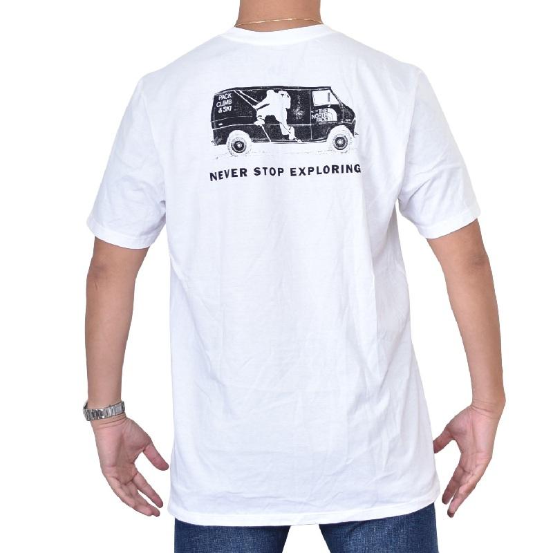 大きいサイズ メンズ ノースフェイス 半袖 グラフィック バックプリント Tシャツ USAモデル THE NORTH FACE XL XXL 【メール便対応】 [M便 1/1]